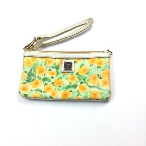 Dooney and Bourke floral print wristlet